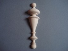 Wooden half round base finial  0033