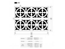 Plaster Air Vent Ventilation Grille A02 size 280mm x 200mm