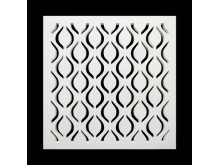 Plaster Air Vent Cover - Grill for individual assembly P28/p28 250mmx250mm