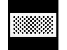 Plaster Air Vent Cover - Grill for individual assembly P48/p48 230mmx120mm