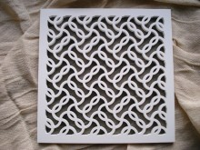 Plaster Air Vent Cover Ventilation Grille for self-assembly P11/p11 size 220mm x 220mm