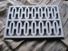 Plaster Air Vent Cover Ventilation Grille for self-assembly A4/d04 size 280mm x 190mm