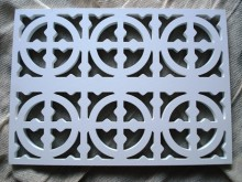 Plaster Air Vent Cover Ventilation Grille for self-assembly A2/d02 size 280mm x 200mm