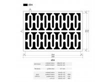 Plaster Air Vent Ventilation Grille A04 size 280mm x 190mm