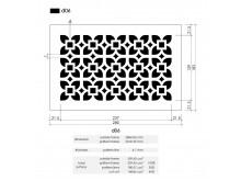 Plaster Air Vent Cover Ventilation Grille A06/d06 - size 280mm x 182mm
