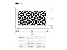 Plaster Air Vent Cover Ventilation Grille A07/d07 - size 225mm x 137mm