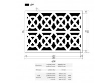 Plaster Air Vent Cover Ventilation Grille A09/d09 - size 280mm x 200mm
