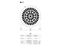 Plaster Air Vent Cover Ventilation Grille G01 size 180mm