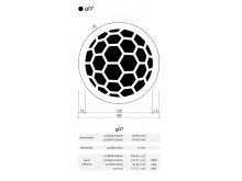 Plaster Air Vent Cover Ventilation Grille G07/d07 size 180mm