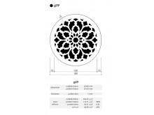 Plaster Air Vent Cover Ventilation Grille G09/d09 size 180mm