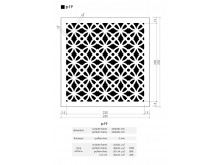 Plaster Air Vent Ventilation Grille P19 size 250mm x 250mm