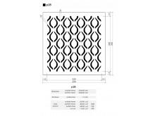 Plaster Air Vent Cover Ventilation Grille P28 size 250mm x 250mm