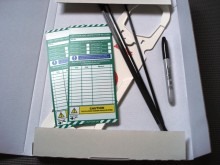 Scafftag Tower holder and inserts Tag Kit 1+2 Postage Fast & Free