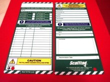 NEW Scafftag Scaffold Standard Inspection Insert tags x 10 Postage Fast & Free